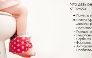 Препараты, которые помогают справиться с диареей у детей